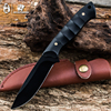 HX OUTDOORS Hunting Knife Black Blade Saber Tactical Fixed Knife Camping Zero Tolerance Survival Tools Cold
