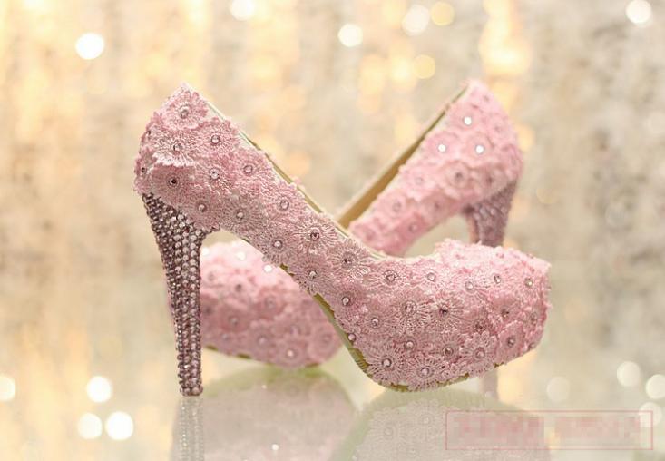 15 Anos Flats: 2018 New Style High Heel Platform Wedding Shoes Elegant