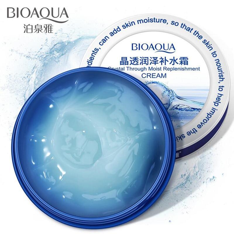 BIOAQUA Кристальный увлажняющий крем для лица Уход питание для кожи плотный наполняющий водный крем с гиалуроновой кислотой 38 г