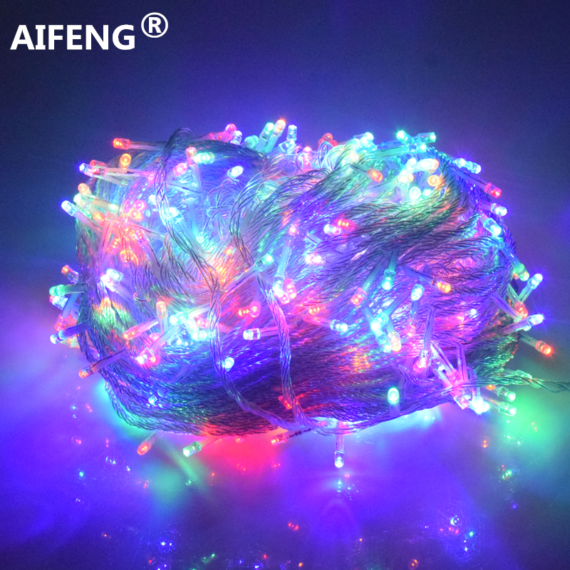 все цены на AIFENG 10M 20M 30M 50M 100M LED string Fairy lights holiday Wedding Christmas decoration Waterproof led garland AC 220V EU Plug