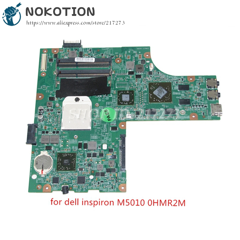 NOKOTION PC Motherboard For Dell Inspiron 15R M5010 Main Board CN-0HNR2M 0HNR2M HNR2M 48.4HH06.011 HD4650 Graphics Free cpu cn 0hnr2m for dell inspiron 15r m5010 laptop motherboard 48 4hh06 011 amd ddr3 free shipping 100