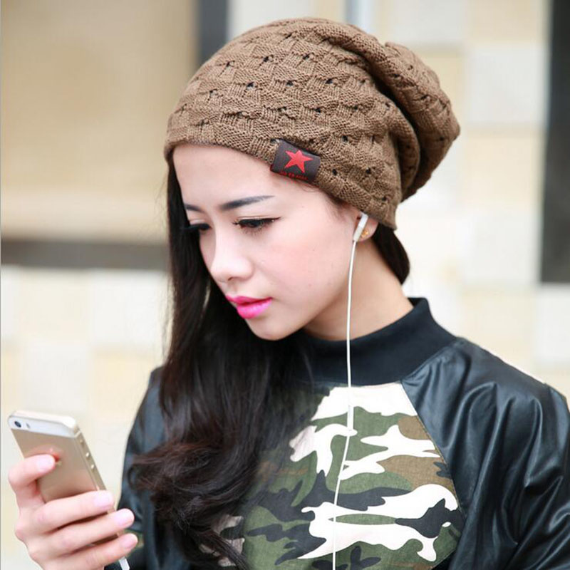 2017 New Winter Hat Female Skullies Beanies Bonnet Brand Knitted Star Hats For Women Men Hip Hop Baggy Warm Cap Ski Beanie цены онлайн