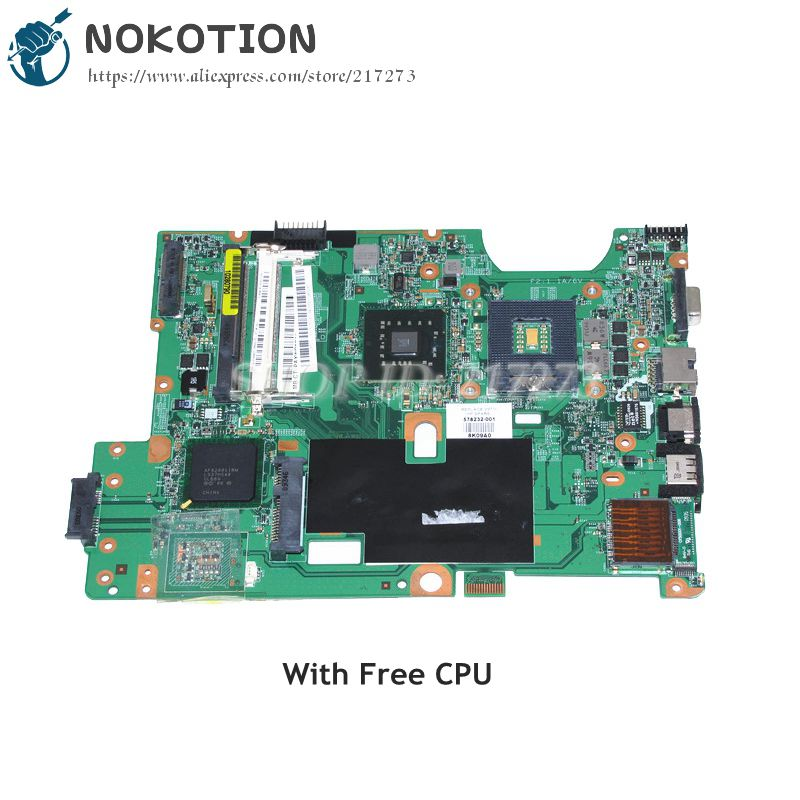 NOKOTION For HP Compaq CQ60 G60 Laptop Motherboard GL40 DDR2 Free CPU 48.4FQ01.011 578232-001 MAIN BOARD 578232 001 laptop motherboard cq60 g60 sales promotion full tested