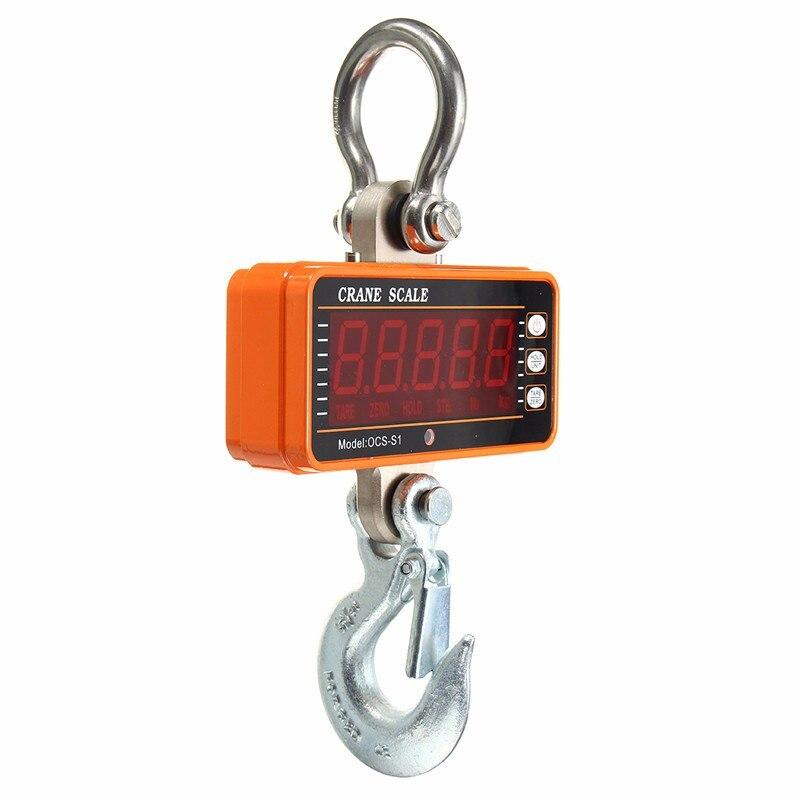 Digital Hanging  Crane Scale OCS-S1 Digital Display 100-1000kg 2000LBS LCD Crane Scale High Accurate Electronic Hook Scale
