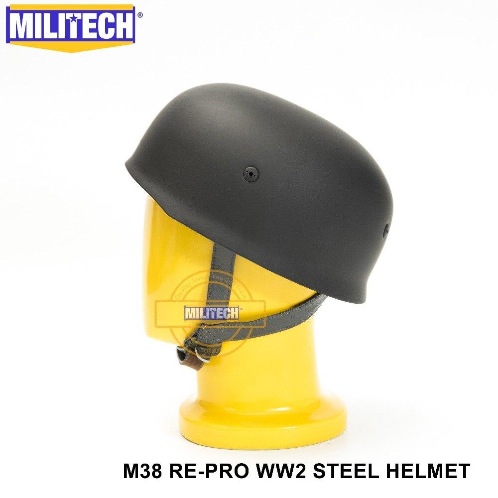 Freies Verschiffen! Militech Ww1 Schwarz Deutsch Helm Motor Bike Wwi Deutsch Helm Deutsch M18 Helm Sicherheit & Schutz