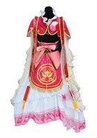 LoveLive! Маки Nishikino семь Лаки Gods пробудить Косплэй Хэллоуина платье + аксессуары для волос + корона + обувь