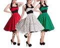 Free Shipping rockabilly dree Adelaide Polka Dot Retro Rockabilly Vintage 50S Party Prom Sun Dress