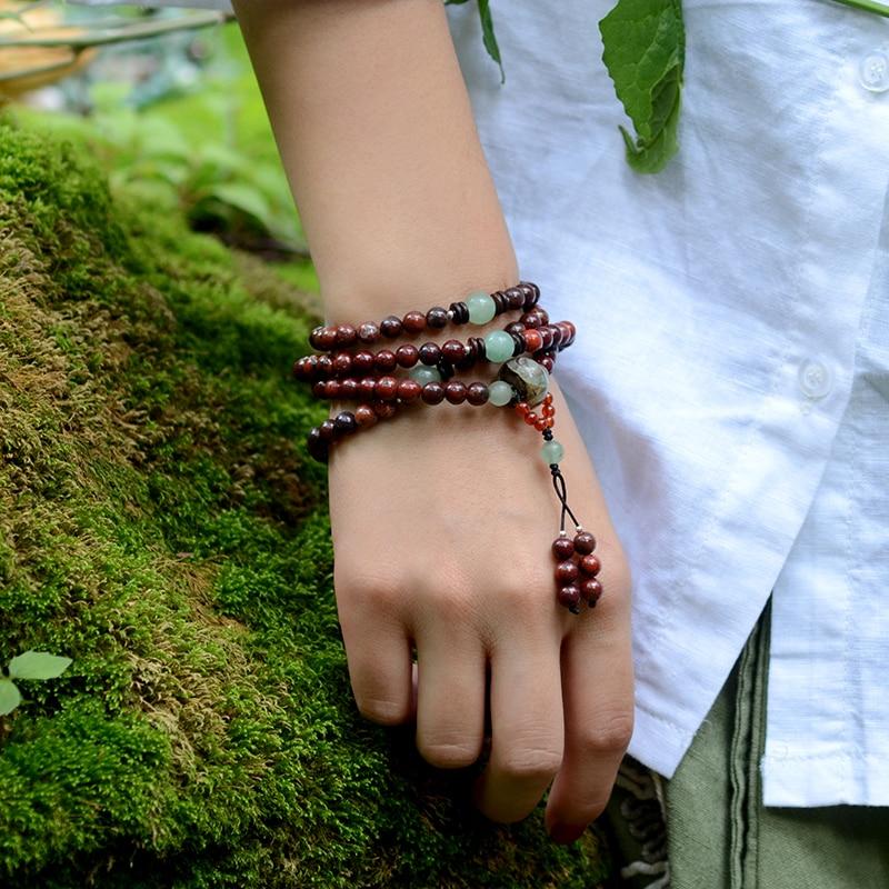 Beaded βραχιόλι vintage Dzi χάντρες κρεμαστό - Κοσμήματα μόδας - Φωτογραφία 4