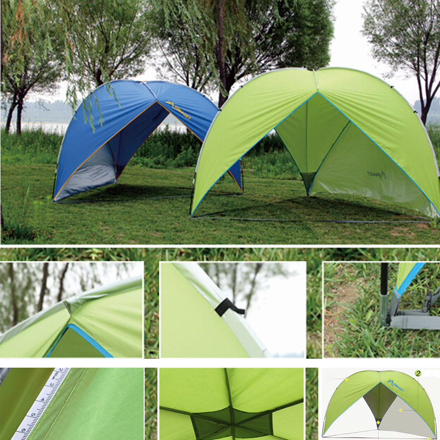instant canopy outdoor camping tent waterproof rainproof fishing beach picnic sunshade large camping tent for 58 persons - Instant Canopy