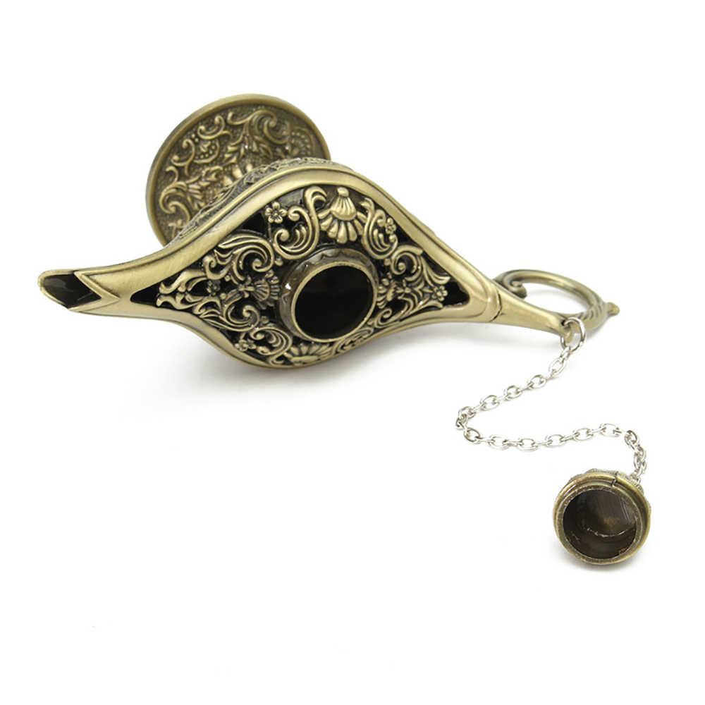 Изысканная пустотелая волшебная лампа желаний курильница Волшебная Лампа Алладина Ретро чайник лампа джинна орнамент