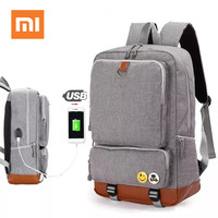 Xiaomi Laptop Backpack Mens Shoulder bag with USB Charge Universal Oxford Mochila Notebook Computer Bag for business travel