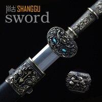Высокое Искусство Коллекция Древних Китайских Генералов Абстрактная Скульптура льва Стали Handmade Oriental Sword Knight Sword.