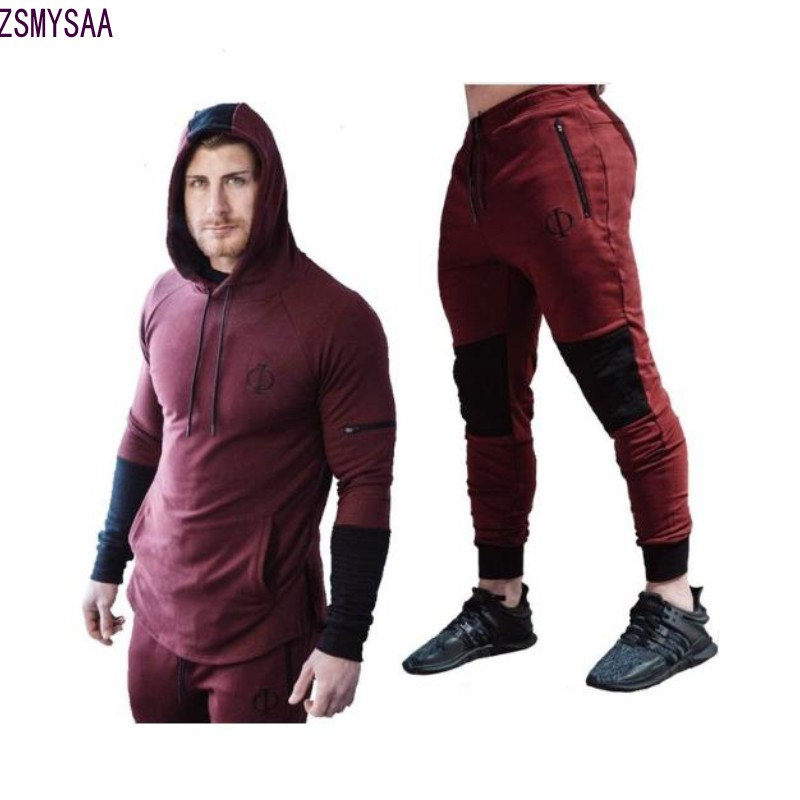 New 2018 Spring Set Males's Vogue Sportswear Tracksuits Units Males's Bodybuilding Hoodies+Pants Informal Outwear Fits Measurement M-Xxl