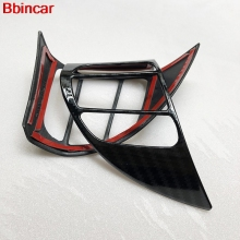 Bbincar Car Steering Wheel Panel Trim Control Botton Frame font b Interior b font Car Accessories