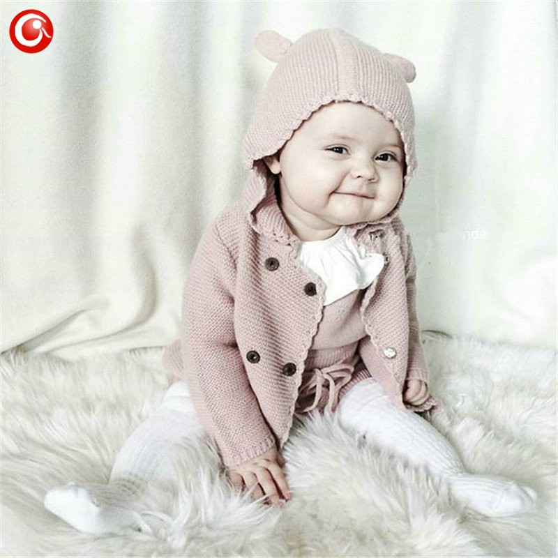 2016 AutumnWinter Kids Girls Hooded Cardigan Double Breasted Cotton Sweater For Children Boy Baby Girl Soft Knit Jumper Clothes (6)