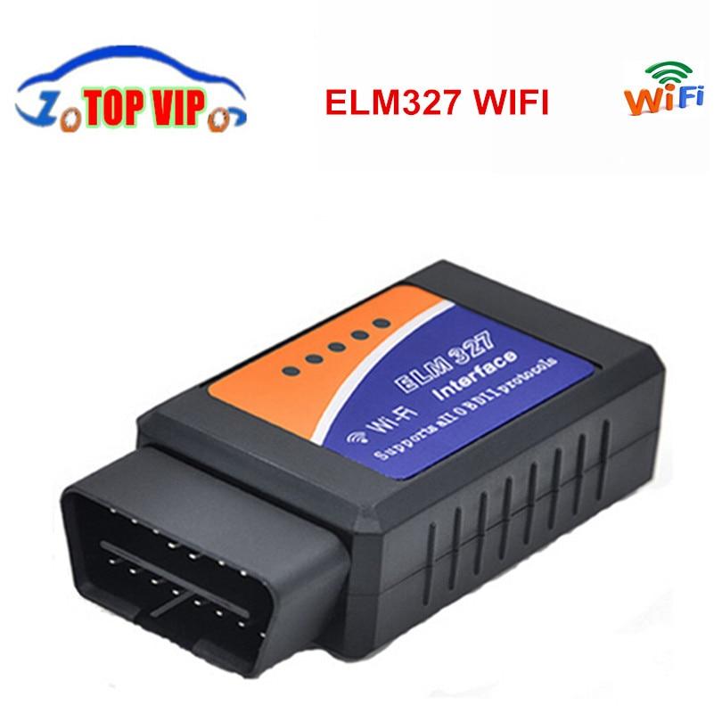 Prix pour 2017 Haute Qualité ELM327 Wifi Scanner OBD2 Diagnostic-Outil ELM 327 WIFI OBDII Scanner V1.5 Pour Android/IOS iPhone Ipad