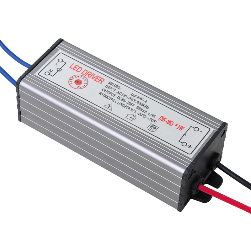 PHISCALE 25-36W LED Driver Power Supply Waterproof IP67 Constant Current AC100-260V 300mA For 25-36W LED Bulb 70w led driver dc54v 1 5a high power led driver for flood light street light constant current drive power supply ip65