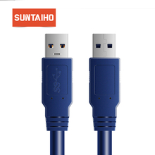 Suntaiho USB to USB Cable USB 3.0 Data Cable Male to Male USB Extension Cable for Radiator Hard Disk Webcom USB 3.0 Cable