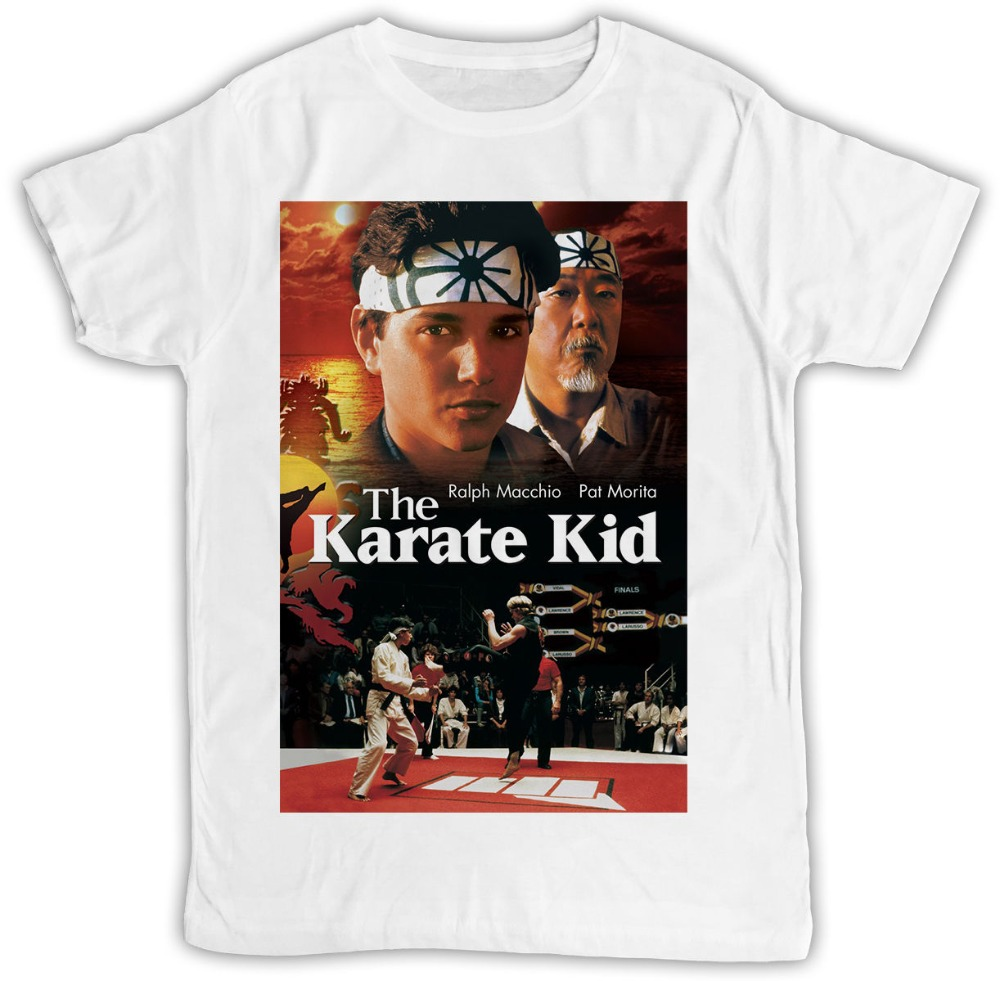 New Brand-Clothing T Shirts THE KARATE KID MOVIE POSTER GIFT BIRTHDAY PRESENT SHORT SLEEVE UNISEX TSHIRT Men O-Neck Tee Shirt image
