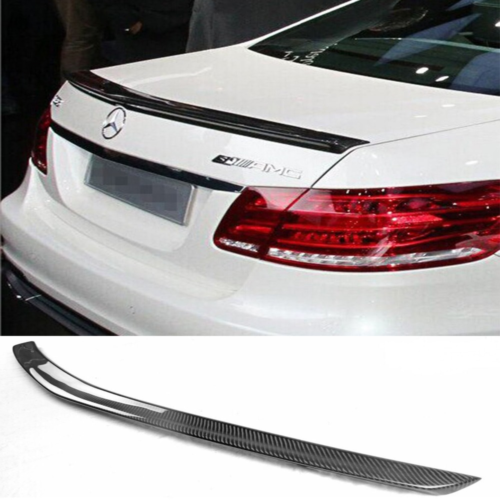 W212 AMG Carbon Fiber Car Rear Trunk boot lip wing  spoiler  for Mercedes-Benz W212 E63 AMG 2014-2016 hot car abs chrome carbon fiber rear door wing tail spoiler frame plate trim for honda civic 10th sedan 2016 2017 2018 1pcs