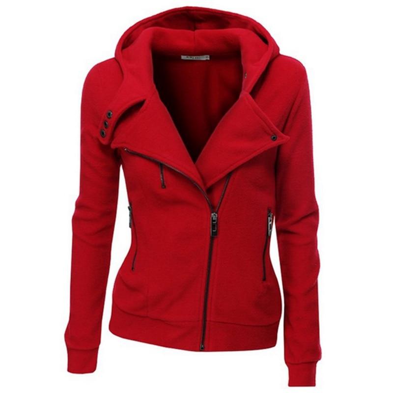 Clocolor женские пальто однотонная куртка с капюшоном с длинным рукавом Женская толстовка на молнии осень-зима пальто женщин