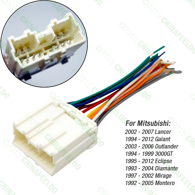 popular car wiring harness buy cheap car wiring harness lots from 10pcs car radio stereo wiring harness adapter for mitsubishi lancer galant outlander 3000gt