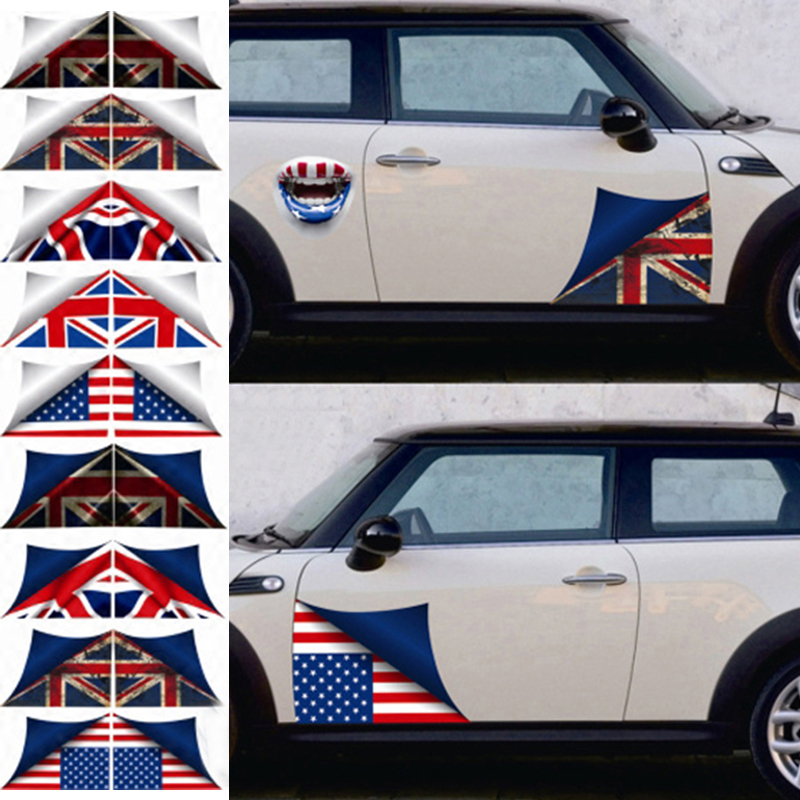 Union Jack Car Side Door Skirt Decal Sticker Decoration For Mini Cooper One JCW S R60 R55 R56 F55 F56 F60 Countryman Car Styling aliauto car styling car side door sticker and decals accessories for mini cooper countryman r50 r52 r53 r58 r56