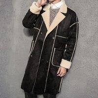 2018 Men high quality windbreaker jackets coats Men's fashion casual thicken trench coat