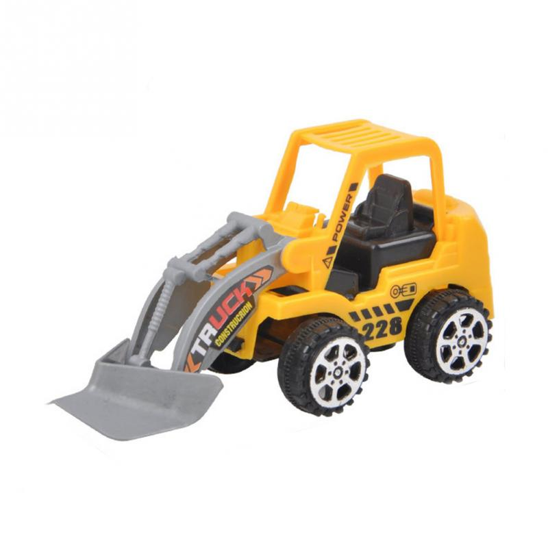 2018 New 1Pcs Engineering Vehicle Kids Mini Car Toys Lot Vehicle Sets Educational Toys Plastic Engineering Vehicle Model Toys