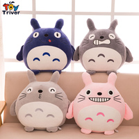 Top Quality 45cm Totoro Plush Cat Toy Pillow Stuffed Animal Doll Baby Girl Kids Girlfriend Christmas Gift Triver Drop Shipping