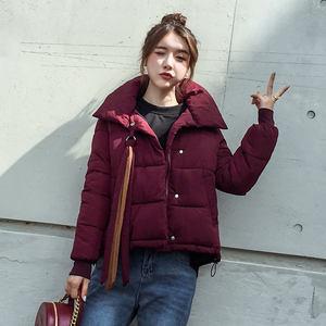 Image 3 - בתוספת גודל XXXL קצר כותנה מעיל נשים Harajuku סגנון חורף מעיל נשים Chaqueta Mujer לחם מעיל כותנה מעיל Parka C4900