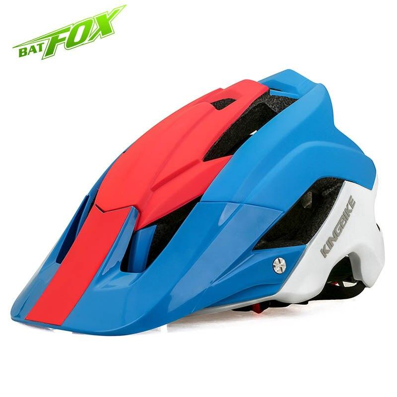 BATFOX 2017 New Design MTB Road Cycling Helmet High Quality EPS Integrally-molded Helmet Ultralight Bike Helmet Removable Brim