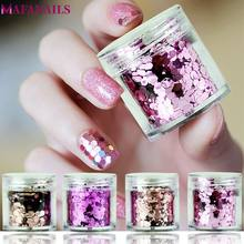 1 Pot 10g Mix Hexagon Vorm Nail Pailletten Pailetten Gradiënt Nail Shiny Vlokken Nail Glitter Pailletten Vlokken Voor Gel polish PA107(China)