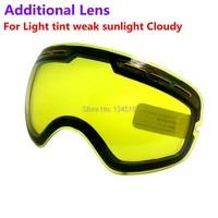 ยี่ห้อคู่สดใสเลนส์สำหรับแว่นตาสกีคืนของหมายเลขรุ่นGOG-201สำหรับอ่อนแอแสงสีสภาพอากาศที่มีเม...