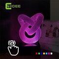Cnhidee novedad para nudo chino de siete colores de iluminación 3D LED lámpara de escritorio como la navidad luces de la noche