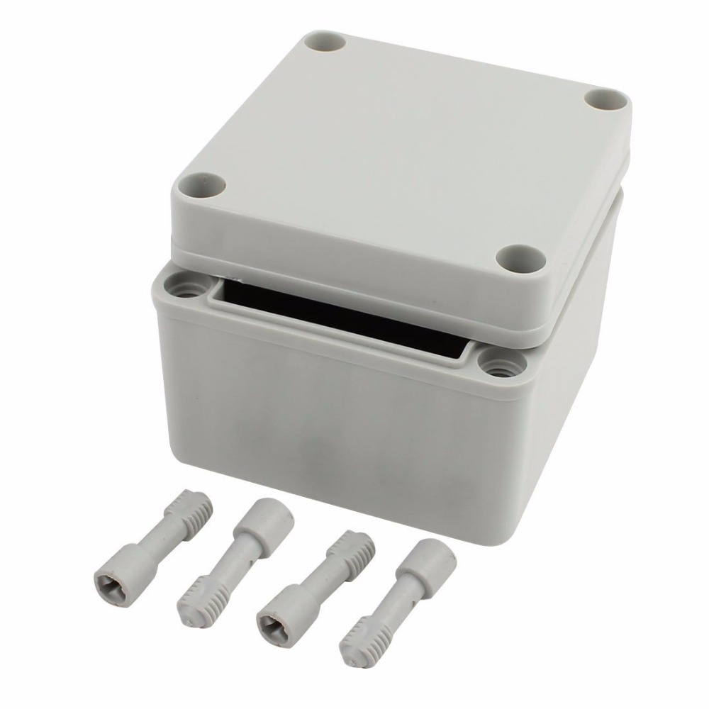 Waterproof Junction Box DIY Terminal Connecting Box Enclosure, 4 x 4 x 3 100*100*75mm 4pcs a lot diy plastic enclosure for electronic handheld led junction box abs housing control box waterproof case 238 134 50mm
