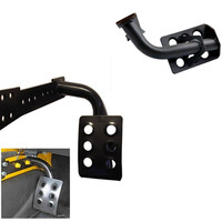 NEW Foot Rest Side Dead Pedal Kick Panel Black Stainless Steel Racing Left Rest Pedal For
