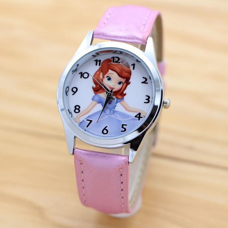 Sofia Princess Quartz Kids Sports Fashion Cartoon Leather Watch Wristwatch For Boy Students Christmas Relogio Watches