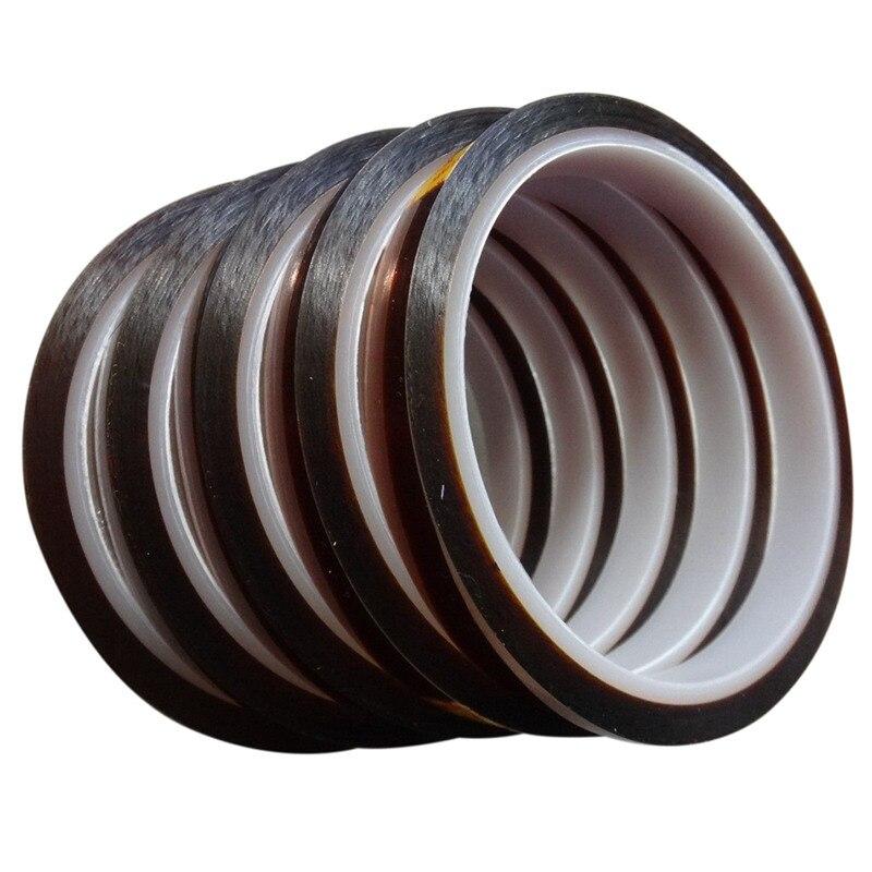 5 rulo 10mm * 33m Isıya dayanıklı bant süblimasyon Transferi için Termal  kahverengi renkli