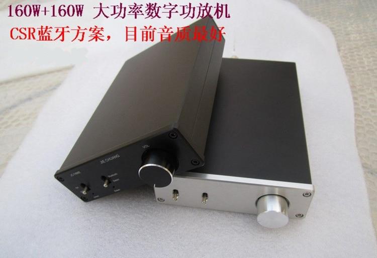 Promotions HIFI Bluetooth Digital Amplifier TDA7498E  2 x100W Bluetooth 2.0 EDR and RCA line input aluminum case iwistao hifi bluetooth power amplifier wireless 2x25w bluetooth 4 0 csr8635 cd level music rca aluminum case free shipping