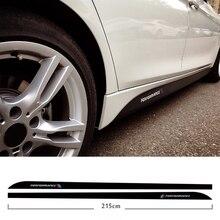 5d углеродное волокно боковая юбка подоконник гоночная полоса для Bmw F30 F31 F32 F33 F22 F23 F15 F85 F10 E60 E61 G30 E90 M производительность наклейка