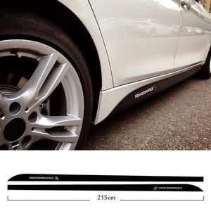 Image 1 - Falda lateral de fibra de carbono 5d, umbral, raya de automovilismo para Bmw F30 F31 F32 F33 F22 F23 F15 F85 F10 E60 E61 G30 E90 M, pegatina de rendimiento