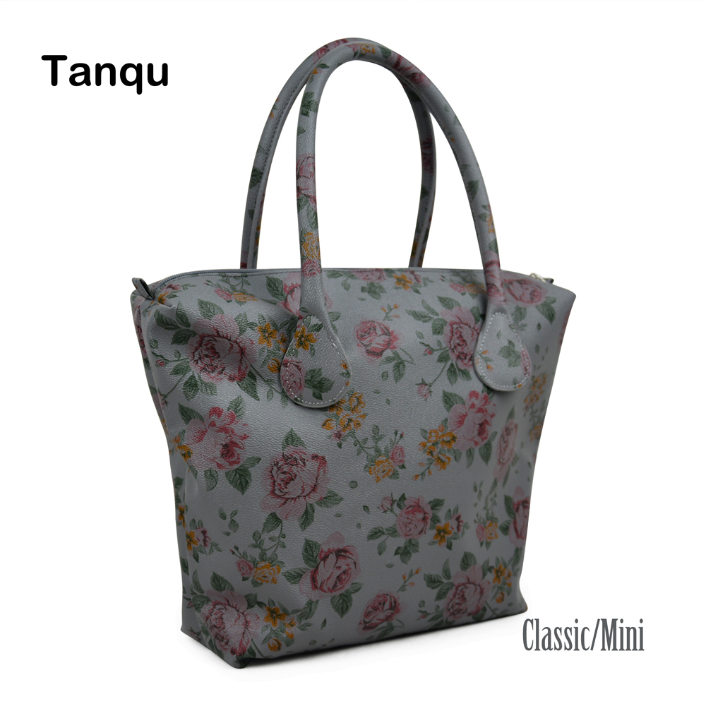 TANQU Waterproof Faux PU Leather Floral Insert Inner Pocket Plus Handle Combination for Classic Mini Obag O Bag Women Handbag опера дон карлос