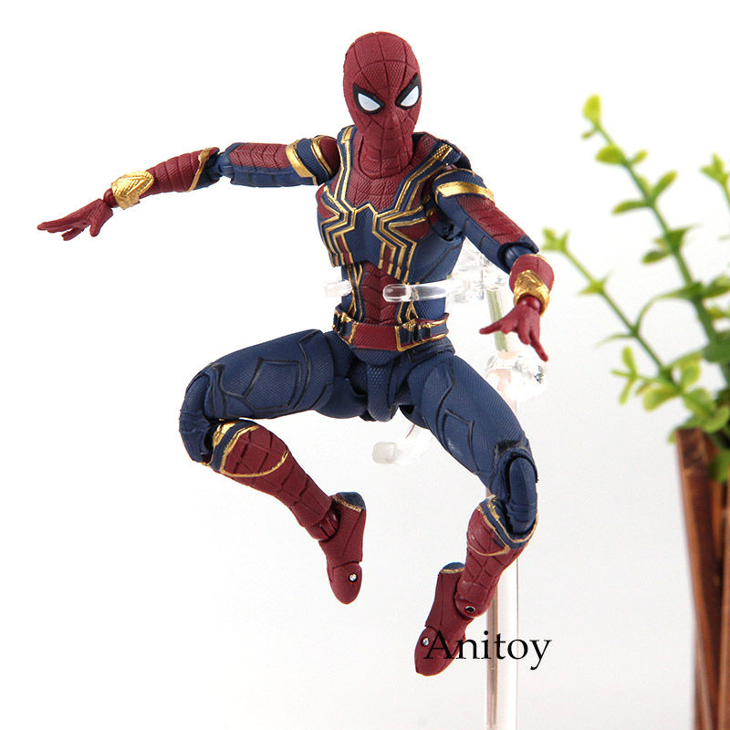 SHF Figuarts Marvel Legends Avengers Infinity War Spiderman Iron Spider & Tamashii Stage PVC Hot Toys Spider Man Figure 14cm