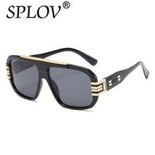 2017 SPLOV Grandes gafas de Marco Gafas de Sol Para Los Hombres/Las Mujeres Gafas de Sol Hombre Gafas de Sol Lentes De Sol Mujer Transparente gafas