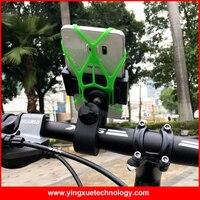 360 Rotation Universal Vélo Guidon Bike Mount Mont Téléphone Grip Support avec Bande de Caoutchouc de Sécurité pour Tous Les Téléphones Cellulaires