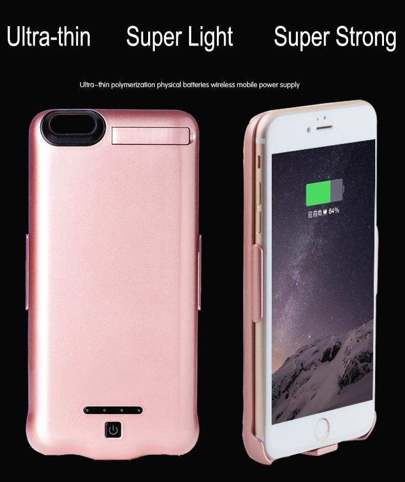 """imágenes para 10000 mah banco de alimentación externa cargador de batería de reserva del paquete case para iphone 7 iphone7 4.7 """"cubierta de la batería del cargador"""
