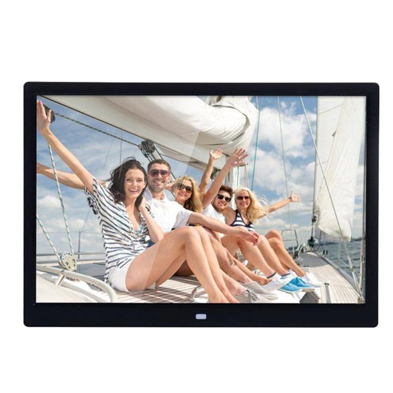 цена на 14 Inch HD 1280X800 Digital Photo Frame LED Electronic Album Picture Music Video Movie Player with Remote Controller US Plug