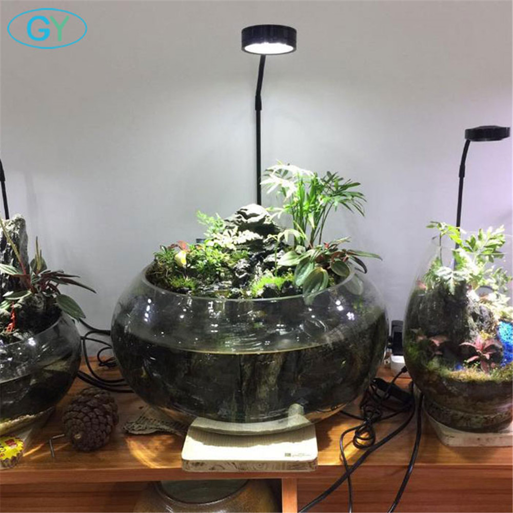 5W USB Gooseneck Led Plant Landscape Lights Black Silver LED Aquarium Lighting 6000K Aquatic Plant Lights Eco-bottle Lights