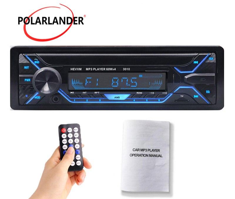 3010 Bluetooth voiture lecteur MP3 unique Din voiture stéréo Audio 12V Bluetooth In-dash FM 1 Din voiture Aux MP3/WMA/USB/TF lecteur de carte voiture